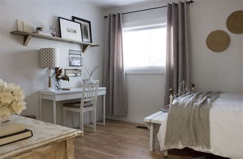 budget refresh modern rustic guest bedroom home office