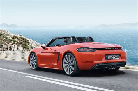 porsche boxster s 2017 porsche 718 boxster fully revealed with turbo flat