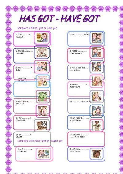 got has got exercises pdf primary school