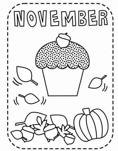 Coloring November Printable Preschool Fall Sheets Coloringfolder