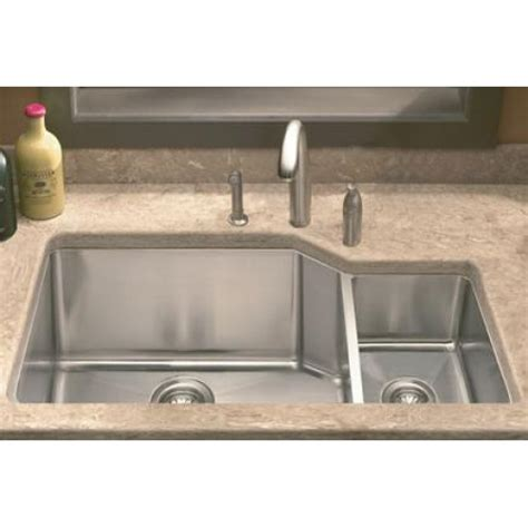 36 inch kitchen sink lada ld3020r undermount 36 inch offset bowl kitchen 3882