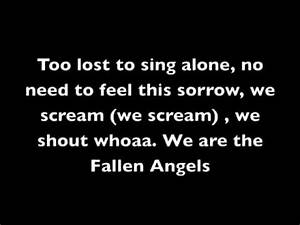 Fallen Angels Lyrics- Black Veil Brides - YouTube