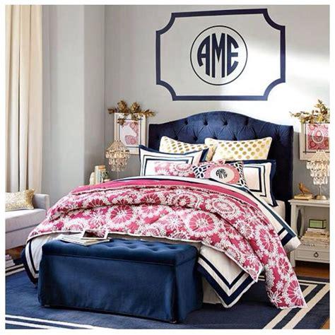Navy And Pink Teen Bedroom From Pbteen Bedrooms
