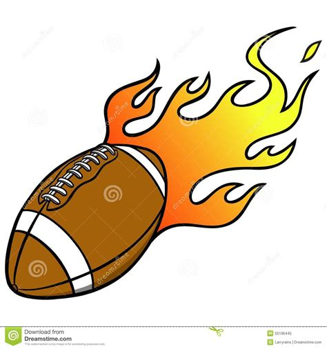 Football Clipart Football With Flames Clipart 101 Clip