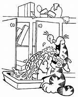 Lasagna Garfield sketch template