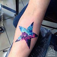 Galaxy Star Tattoo Designs