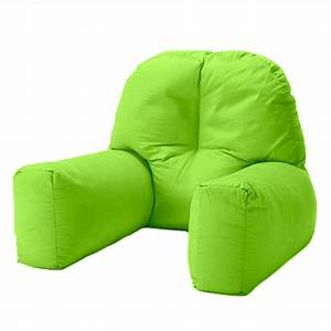lime cotton chloe bed reading pillow bean bag cushion arm With bean bag chair with back support