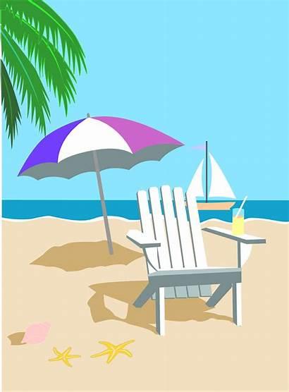 Beach Clipart Vacation Clip Summer Chair Inside