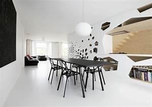decoration salle a manger moderne 50 idees d39inspiration With salle À manger contemporaine avec objet deco design statue