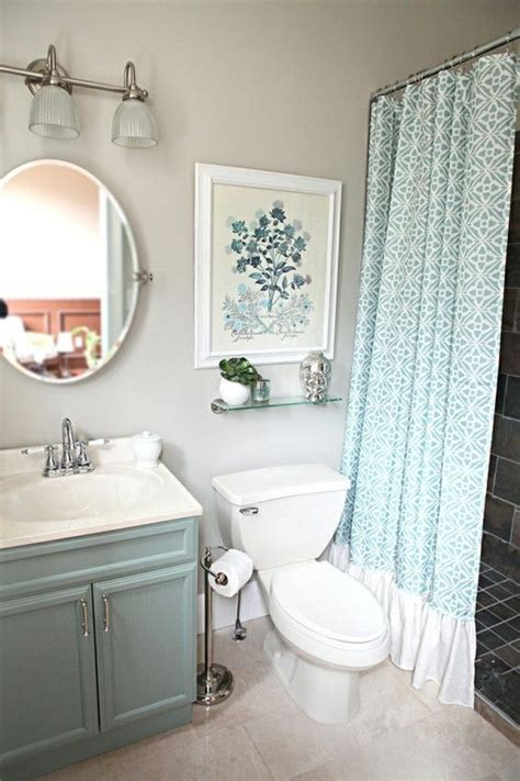 What Color Shower Curtain For A Small Bathroom by Blue Bathroom Design Loving The Ruffle On The Bottom Of