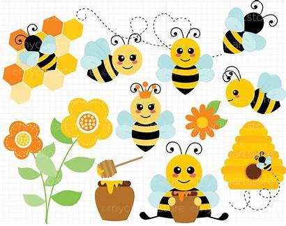 Bee Bumble Svg Vector Cut Honey Bees