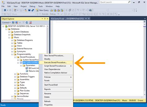sql query to create table sql server 2016 create a stored procedure