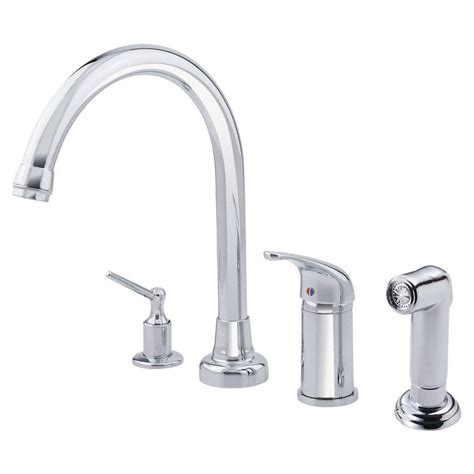 kitchen faucet with built in sprayer glacier bay 2 handle wall mount kitchen faucet with soap