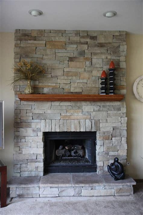 ledge stone fireplace album  traditional family room