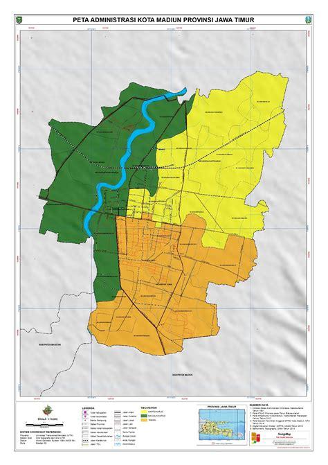 administrasi kota madiun peta tematik indonesia