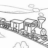 Caboose Train Drawing Railroad Coloring Getdrawings sketch template