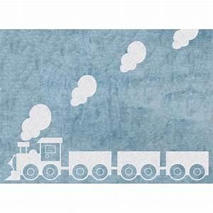 tapis enfants 100 coton lavable mobilier et decoration With tapis bleu ciel