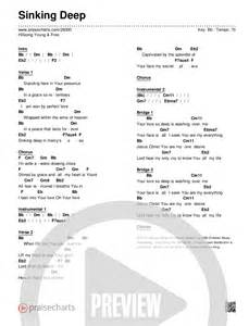 praisecharts quot sinking deep quot chord chart hillsong young