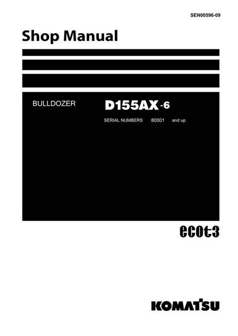 Komatsu D155AX-6 Bulldozer (80001 and up) Shop Manual