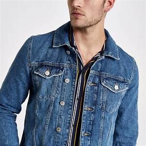 Veste Homme Col Mouton : homme veste en jean d lav avec col imitation mouton bleu river island manteaux et vestes ~ Dallasstarsshop.com Idées de Décoration