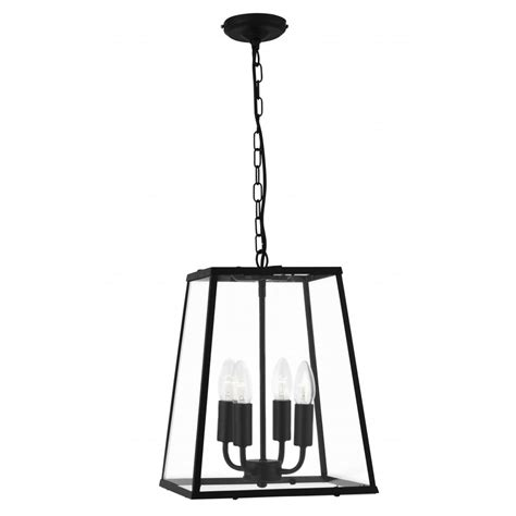 5614bk Black Lantern Pendant Light