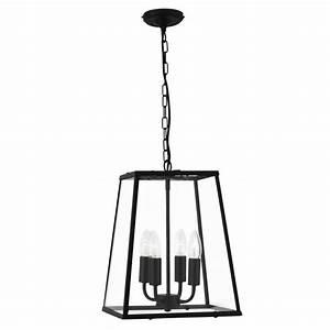 Bk black lantern pendant light