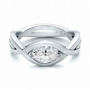 custom marquise diamond engagement ring 100824 bellevue With marquise diamond wedding rings