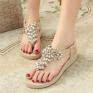 Sandalen Sommer 2015 : online kaufen gro handel elegante flache sandalen aus ~ Watch28wear.com Haus und Dekorationen