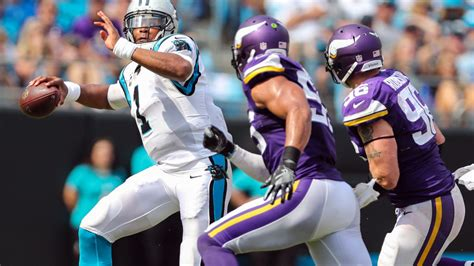 panthers  vikings week  game information time tv