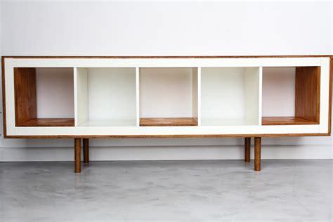 ikea hack mid century modern ex ikea upright bookcases now mid century modern sideboards ikea hackers ikea hackers