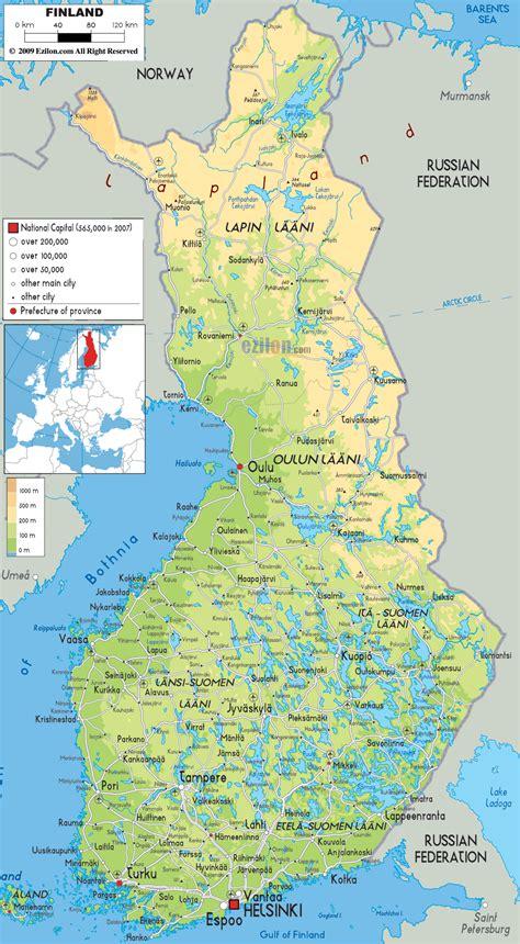 map  finland travelsmapscom