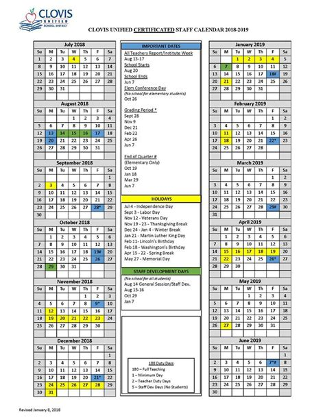 vacation plans clovis clovis unified school district