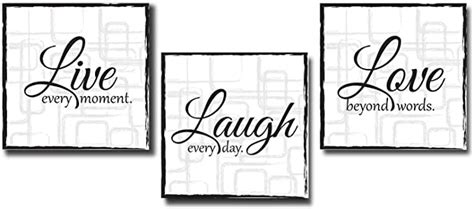 Formal living room ideas what is important to know for live laugh love living room decor liv. Amazon.com: Live Laugh Love - 3 Piece Canvas Print - Wall Art Decor - Gallery Wrap Panels on ...