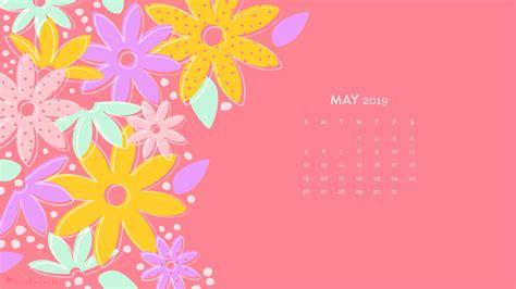 May 2019 Flower Calendar Wallpaper