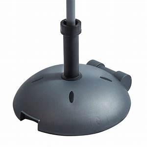 Beton 40 Kg : pied de parasol en b ton noir 40 kg roulettes ~ Frokenaadalensverden.com Haus und Dekorationen