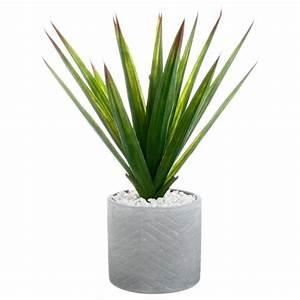 Plante D Extérieur En Pot : plante artificielle en pot aloe vera 49cm vert ~ Dailycaller-alerts.com Idées de Décoration