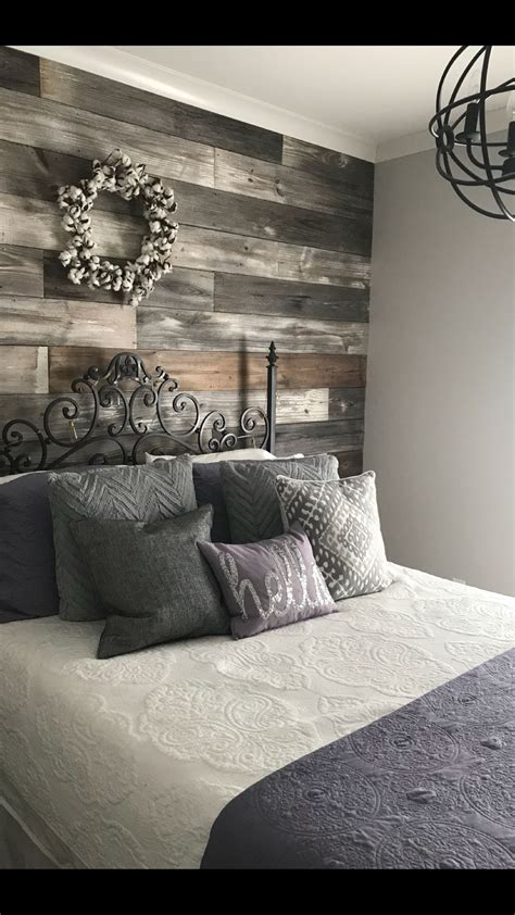Master Bedroom Wall by Repurposed Shiplap Accent Wall Bedroom Ideas In 2019
