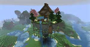 Mystical Zen House  Floating  Minecraft Project  Floating House In The Sky