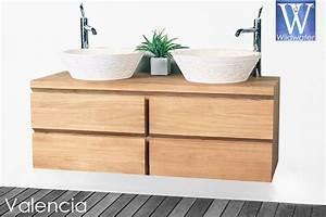 meuble de salle de bain en teck massif collection wildwater With meuble salle de bain en teck suspendu