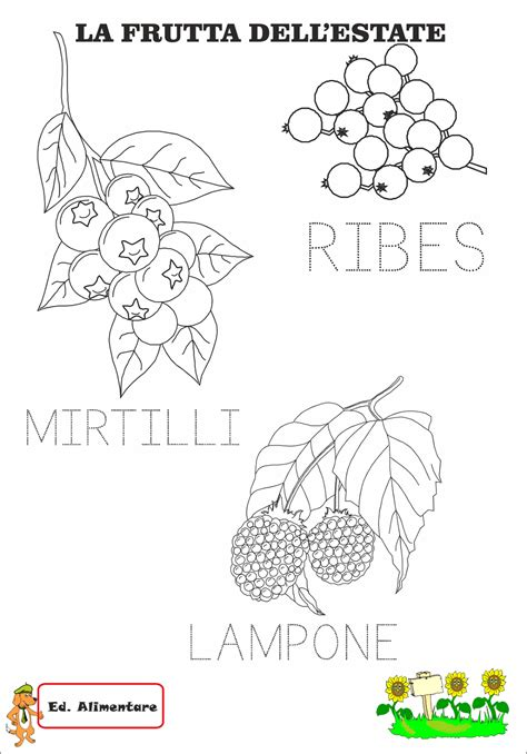 disegni  frutta da colorare