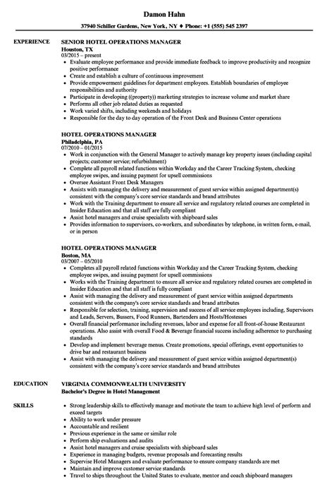 Hotel Manager Resume Sample - Mryn Ism