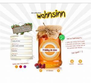 Etiketten Für Gläser : etiketten f r marmelade selbst gestalten und drucken arteda webdesign ~ One.caynefoto.club Haus und Dekorationen