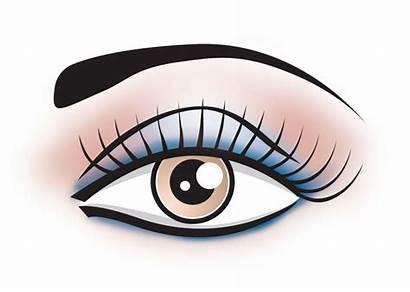 Eye Clip Makeup Clipart Eyeshadow Glam Eyes