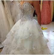 wedding dress with a l...