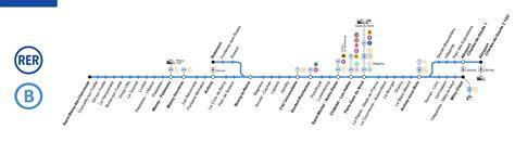 Carte Metro Rer B by Rer B Map Schedule Price Tourist Information