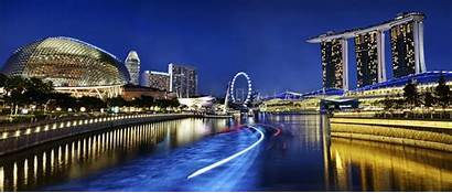 Singapore Marina Bay Sands Wallpapers Night Escape