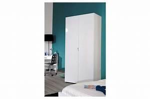 Armoire Penderie Enfant : armoire 2 portes avec penderie blanc ou noir laqu e ~ Teatrodelosmanantiales.com Idées de Décoration
