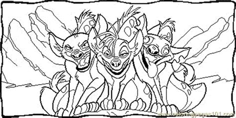 shenzi  friends coloring page   lion king coloring pages coloringpagescom