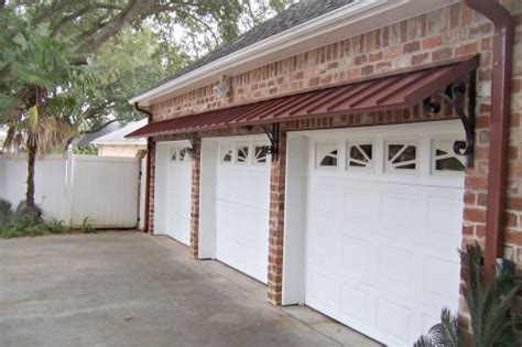 colonial red metal classic awnings  garage doors door awnings metal awning garage doors