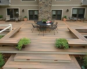 terrasse en bois 75 idees pour une deco moderne With modele de terrasse en bois